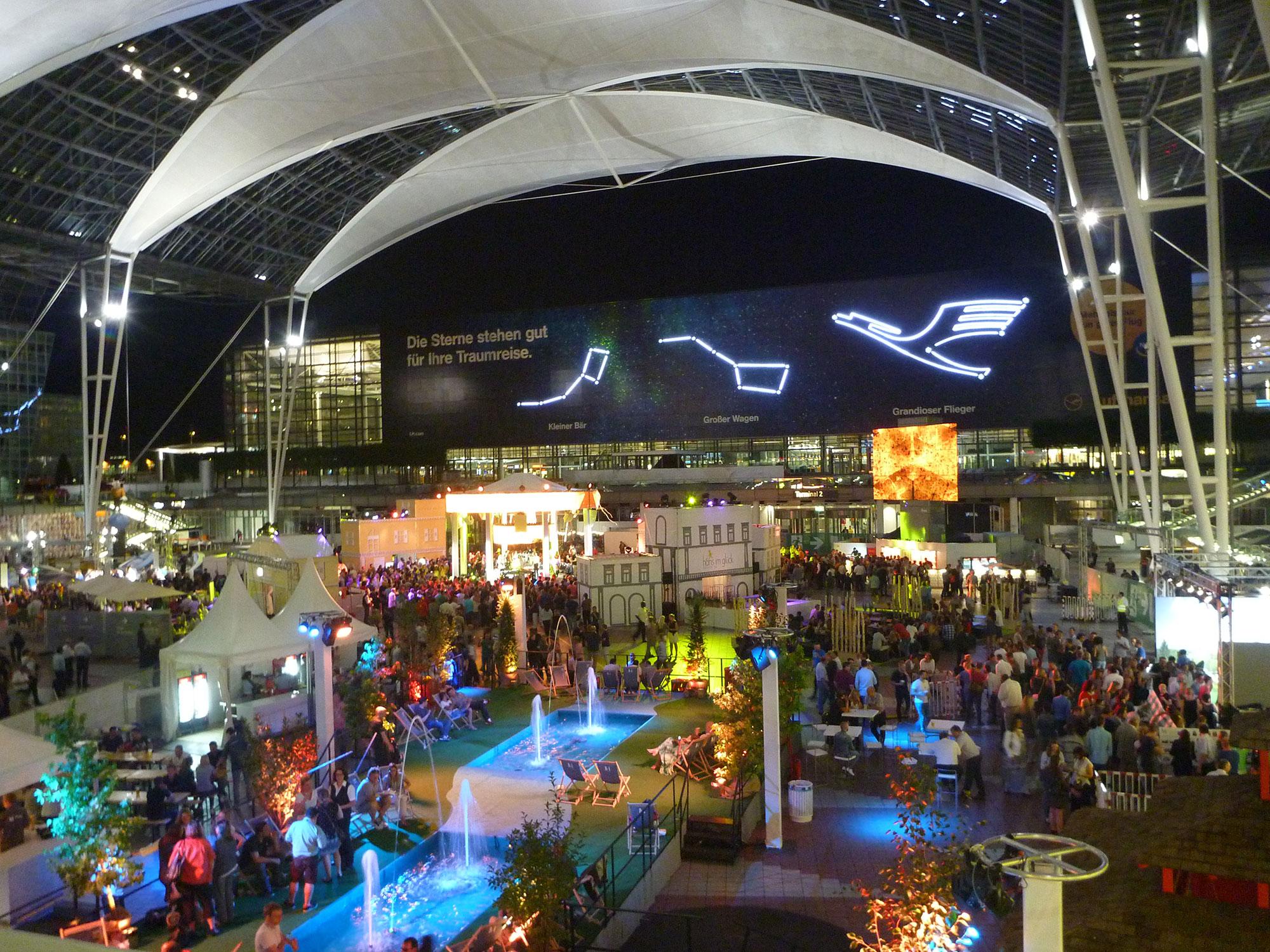 Mitarbeiterfest Flughafen München Deko Tec Ihr Messebauer