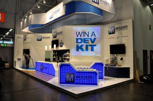Mouser Electronics Messestand auf der Embedded World
