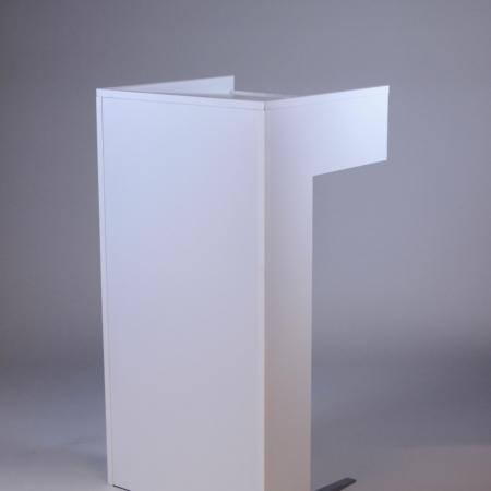 Rednerpult in weiß bei Deko-Tec mieten