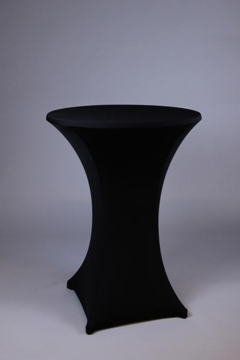 Tischhusse schwarz bei Deko-Tec mieten