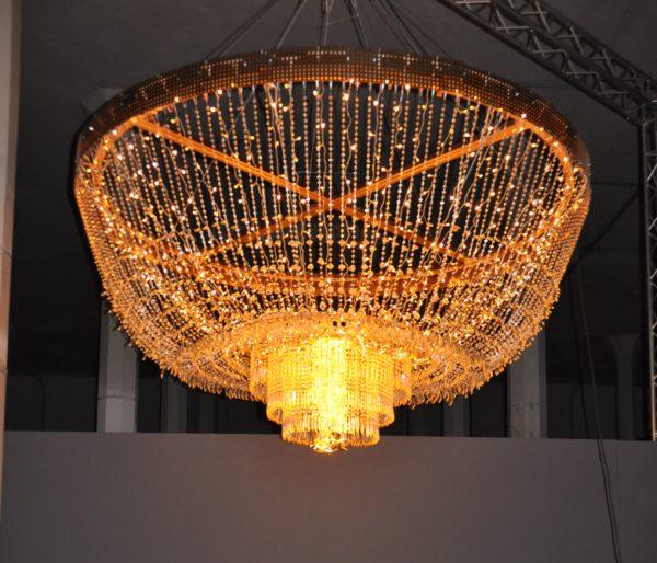 Kronleuchter mit Glasbehang