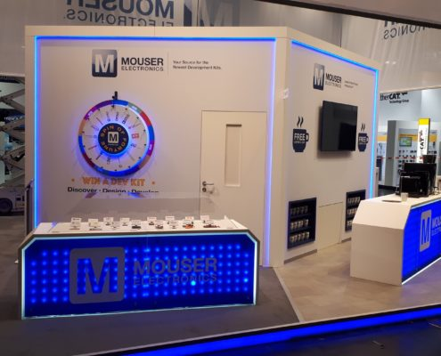 Messestand von Mouser auf der Embedded World 2018 2
